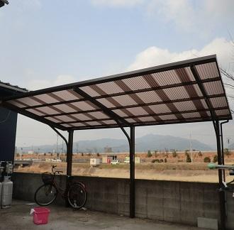 強風でも安心、カーポートの屋根をポリカ波板に張替えしました!